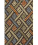 RugStudio presents KAS Geo 4603 Mocha Windows Hand-Tufted, Good Quality Area Rug