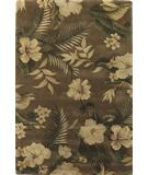 RugStudio presents KAS Havana Hibiscus Mocha 2610 Hand-Tufted, Good Quality Area Rug