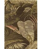 RugStudio presents KAS Havana Rainforest Mocha 2615 Hand-Tufted, Good Quality Area Rug