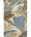 RugStudio presents Kas Havana 2624 Ivory / Blue Hand-Tufted, Good Quality Area Rug