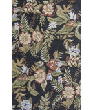 RugStudio presents KAS Havana 2625 Black Wildflowers Hand-Tufted, Good Quality Area Rug