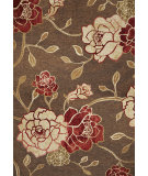 RugStudio presents Kas Horizon 5703 Mocha Flora Machine Woven, Good Quality Area Rug