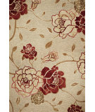 RugStudio presents Kas Horizon 5709 Sage Green Flora Machine Woven, Good Quality Area Rug