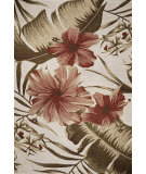 RugStudio presents Kas Horizon 5710 Ivory Hibiscus Machine Woven, Good Quality Area Rug