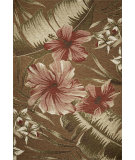 RugStudio presents Kas Horizon 5713 Mocha Hibiscus Machine Woven, Good Quality Area Rug