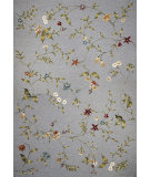 RugStudio presents Kas Horizon 5716 Blue Floral Machine Woven, Good Quality Area Rug