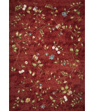 RugStudio presents Kas Horizon 5717 Red Floral Machine Woven, Good Quality Area Rug