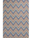 RugStudio presents KAS Horizon 5723 Multi Chevron Machine Woven, Good Quality Area Rug