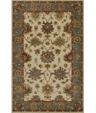RugStudio presents Kas Jaipur 3853 Ivory/Blue Hand-Tufted, Good Quality Area Rug