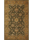 RugStudio presents Kas Jaipur 3858 Green/Gold Hand-Tufted, Good Quality Area Rug