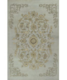 RugStudio presents Kas Jaipur 3864 Light Blue Hand-Tufted, Good Quality Area Rug