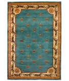 RugStudio presents Kas Jewel 0305 Wedgewood Blue Hand-Tufted, Good Quality Area Rug