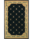 RugStudio presents Kas Jewel Fleur-De-Lis Black 307 Hand-Tufted, Best Quality Area Rug