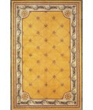 RugStudio presents Kas Jewel Fleur-De-Lis Gold 308 Hand-Tufted, Best Quality Area Rug