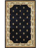 RugStudio presents Kas Jewel Fleur-De-Lis Navy 309 Hand-Tufted, Best Quality Area Rug