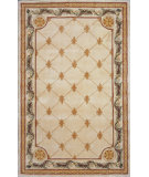 RugStudio presents Kas Jewel Fleur-De-Lis Antique Ivory 310 Hand-Tufted, Best Quality Area Rug