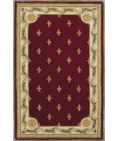 RugStudio presents Kas Jewel Fleur-De-Lis Red 311 Hand-Tufted, Best Quality Area Rug