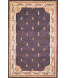 RugStudio presents Kas Jewel Fleur-De-Lis Grape 312 Hand-Tufted, Best Quality Area Rug