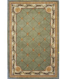 RugStudio presents Kas Jewel Fleur-De-Lis Sage 313 Hand-Tufted, Best Quality Area Rug