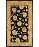 RugStudio presents KAS Kasmir All over Kashan Black-Beige 4808 Hand-Tufted, Better Quality Area Rug