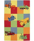 RugStudio presents KAS Kidding Around Trucks Galore 424 Multi Hand-Tufted, Good Quality Area Rug