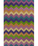 RugStudio presents KAS Kidding Around 443 Chic Ziggy Zaggy Hand-Tufted, Good Quality Area Rug