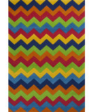 RugStudio presents KAS Kidding Around 444 Cool Ziggy Zaggy Hand-Tufted, Good Quality Area Rug
