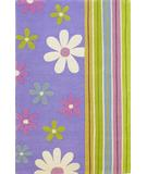 RugStudio presents KAS Kidding Around Groovy Flora Lavender 415 Hand-Tufted, Good Quality Area Rug