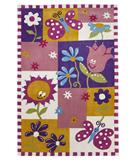 RugStudio presents KAS Kolorful Kidz Springtime Fun Multi 4111 Hand-Tufted, Good Quality Area Rug