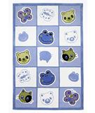 RugStudio presents KAS Kolorful Kidz Checkerboard Friends Blue 4112 Hand-Tufted, Good Quality Area Rug