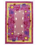 RugStudio presents KAS Kolorful Kidz Ocean Friends Pink 4117 Hand-Tufted, Good Quality Area Rug