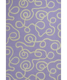 RugStudio presents KAS Kozy Kids 556 Lilac Ribbon Curls Hand-Tufted, Good Quality Area Rug
