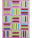 RugStudio presents KAS Kozy Kids 558 Ivory/Pink Elements Hand-Tufted, Good Quality Area Rug