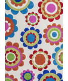 RugStudio presents KAS Kozy Kids 559 Cream Groove Hand-Tufted, Good Quality Area Rug