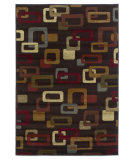 RugStudio presents Kas Lifestyles 5424 Mocha Machine Woven, Good Quality Area Rug