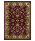 RugStudio presents Kas Lifestyles 5431 Red/Ivory Machine Woven, Good Quality Area Rug