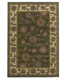 RugStudio presents Kas Lifestyles 5433 Green/Ivory Machine Woven, Good Quality Area Rug