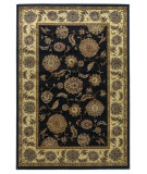 RugStudio presents Kas Lifestyles 5436 Black/Ivory Machine Woven, Good Quality Area Rug