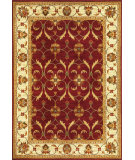 RugStudio presents Kas Lifestyles 5468 Red/Ivory Machine Woven, Good Quality Area Rug