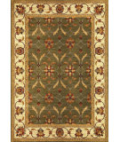 RugStudio presents Kas Lifestyles 5470 Green/Ivory Machine Woven, Good Quality Area Rug