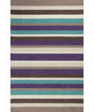 RugStudio presents Kas Loft 2068 Teal / Plum Hand-Tufted, Good Quality Area Rug