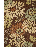 RugStudio presents Rugstudio Sample Sale 63095R Mocha Silhouette Hand-Hooked Area Rug