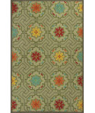 RugStudio presents Kas Meridian 2522 Green Hand-Hooked Area Rug