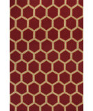 RugStudio presents Kas Meridian 2524 Red Hand-Hooked Area Rug