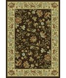 RugStudio presents KAS Monte Carlo II Maya Floral Mocha-Ivory 8295 Machine Woven, Good Quality Area Rug