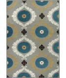 RugStudio presents Kas Mulberry 3400 Silver / Teal Woven Area Rug