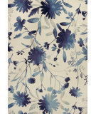 RugStudio presents Kas Reflections 7415 Blue Machine Woven, Good Quality Area Rug