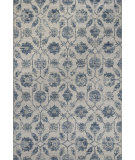 RugStudio presents KAS Reflections 7425 Ivory/Blue Kashia Machine Woven, Good Quality Area Rug