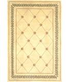 RugStudio presents Kas Ruby Trellis Ivory 8905 Hand-Tufted, Good Quality Area Rug