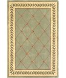 RugStudio presents Kas Ruby Trellis Sage-Ivory 8907 Hand-Tufted, Good Quality Area Rug